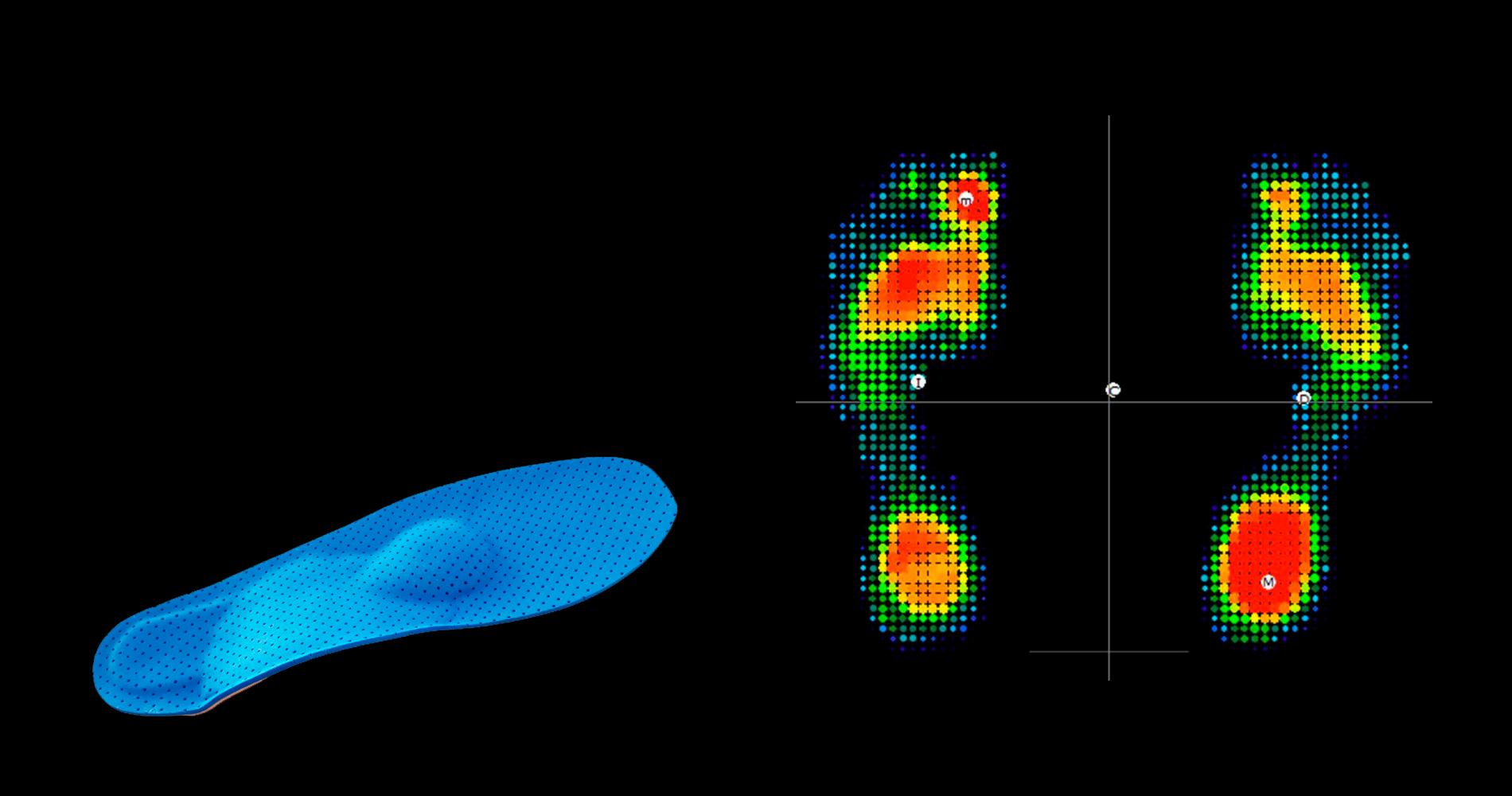 Realizamos un estudio computarizado de su pie <br>y a partir de allí confeccionamos las plantillas<br>que más se ajustan a sus necesidades.